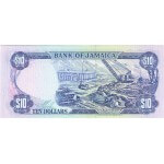 1989 - Jamaica  P71c billete de 10 Dólares