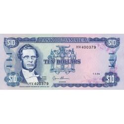 1994 - Jamaica P71e 10 Dollars banknote