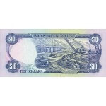 1994 - Jamaica P71e billete de 10 Dólares