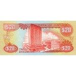 1989 - Jamaica P72c billete de 20 Dólares