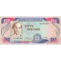 1993 - Jamaica P73b 50 Dollars banknote