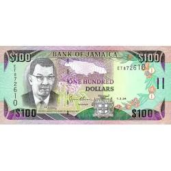 1992 - Jamaica  Pic 75b    100 Dollars banknote