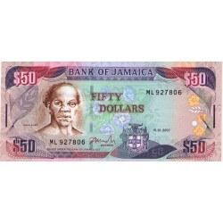 2007 - Jamaica P83b 50 Dollars banknote