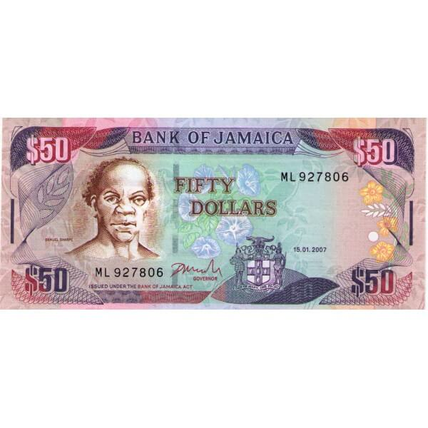 2007 - Jamaica P83b billete de 50 Dólares