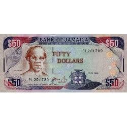 2008 - Jamaica P83c 50 Dollars banknote