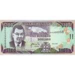 2010 - Jamaica P84e billete de 100 Dólares