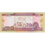 2003 - Jamaica P85a billete de 500 Dólares