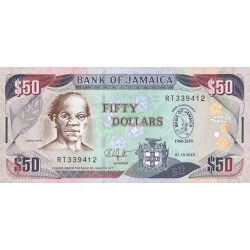 2010 - Jamaica P88 50 Dollars banknote