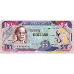 2012 - Jamaica P89 50 Dollars banknote