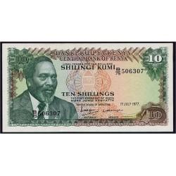 1977- Kenya Pic 12c  10  Shillings  banknote