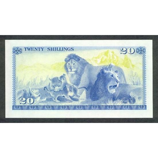 1978- Kenya Pic 17  20  Shillings  banknote