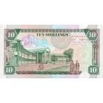 1994 -  Kenia pic 24b  billete de   10 Shillings