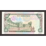 1992-  Kenia pic 24d  billete de   10 Shillings