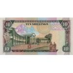 1990 - Kenya Pic 24f 10  Shillings  banknote