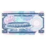 1991-  Kenia pic 25d  billete de   20 Shillings