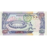 1993 -  Kenia pic 31a  billete de   20 Shillings