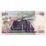 1996- Kenya Pic 37a  100  Shillings  banknote