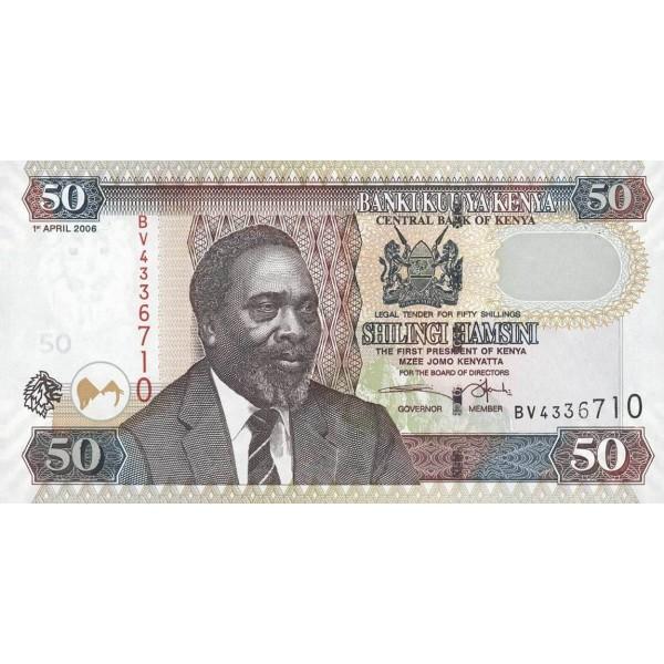 2006- Kenya Pic 47b  50  Shillings  banknote
