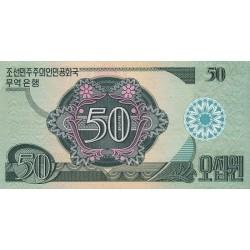 1988 - North_Korea  PIC 30   50 Won  banknote