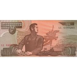 1992 - North_Korea  PIC 41a    10 Won  banknote