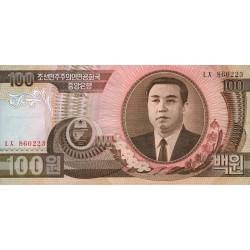 1992 - North_Korea  PIC 43a    100 Won  banknote