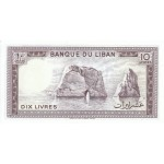 1986 -  Líbano pic 63f  billete 10 Libras