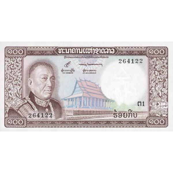 1974 - Laos pic 16a billete de 100 Kip