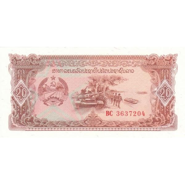 1979  Laos PIC 28    20 Kip banknote