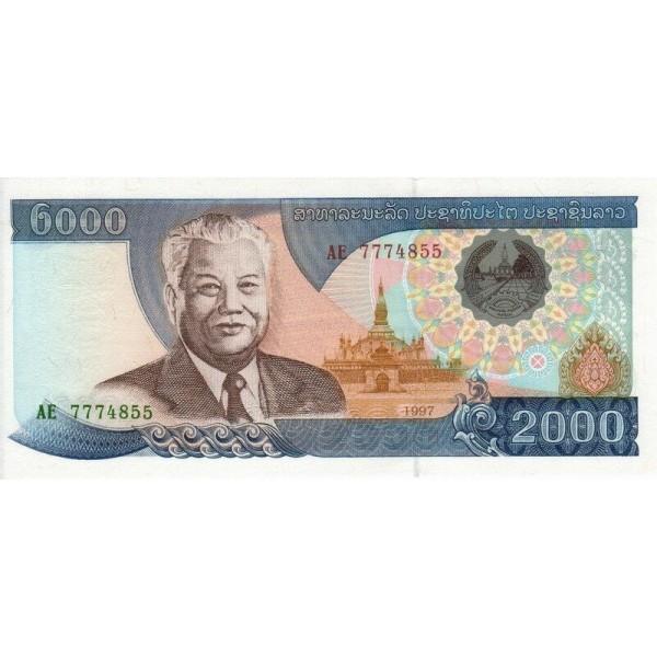 1997  Laos PIC 33   1000 Kip banknote