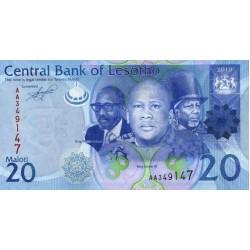 2010- Lesotho Pic 22a  20 Maloti  banknote