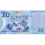 2010 - Lesotho  pic 22a  billete de 20 Maloti