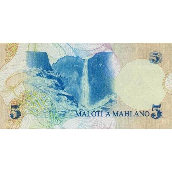 1981- Lesotho Pic 5a  5 Maloti  banknote