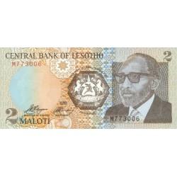 1989- Lesotho Pic 9a  2 Maloti  banknote