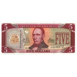 2003 - Liberia   Pic 26a    5 Dollars  banknote