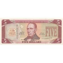 2009 - Liberia   Pic 26e    5 Dollars  banknote