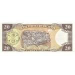 2003 - Liberia pic 28a billete de 20 Dólares