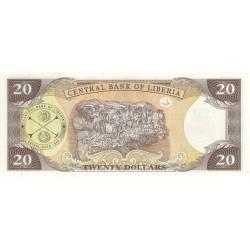 2003 - Liberia   Pic 28a    20 Dollars  banknote