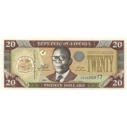 2009 - Liberia   Pic 28e    20 Dollars  banknote