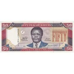 2009 - Liberia   Pic 29d    50 Dollars  banknote