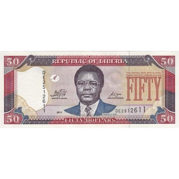 2009 - Liberia pic 29d billete de 50 Dólares