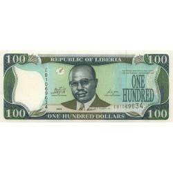 2009 - Liberia   Pic 30e    100 Dollars  banknote