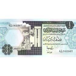 1990 - Libya PIC  53   1/2 Dinar banknote