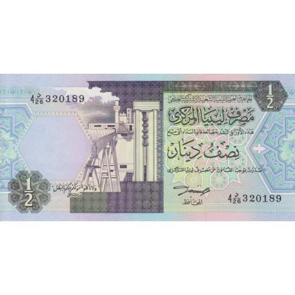 1993 - Libia pic 59a billete de 1 Dinar f 4