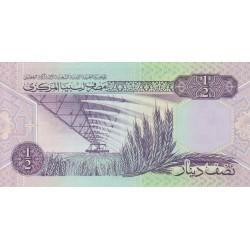 1991 - Libya PIC  58b   1/2 Dinar banknote  f 4