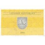 1991 - Lithuania PIC 29b   0.10 Talonas banknote