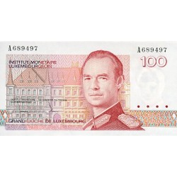 1986 - Luxemburg  Pic  58a        100 Francs banknote