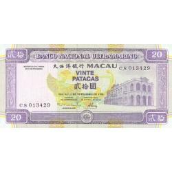 1996 - Macau Pic  66a     20 Patacas  banknote