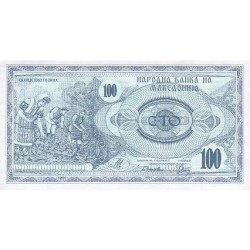 1992 - Macedonia PIC 4a    100 Denar banknote