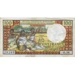 1966 - Madagascar Pic 57a billete de 100 Francos =20 Ariary