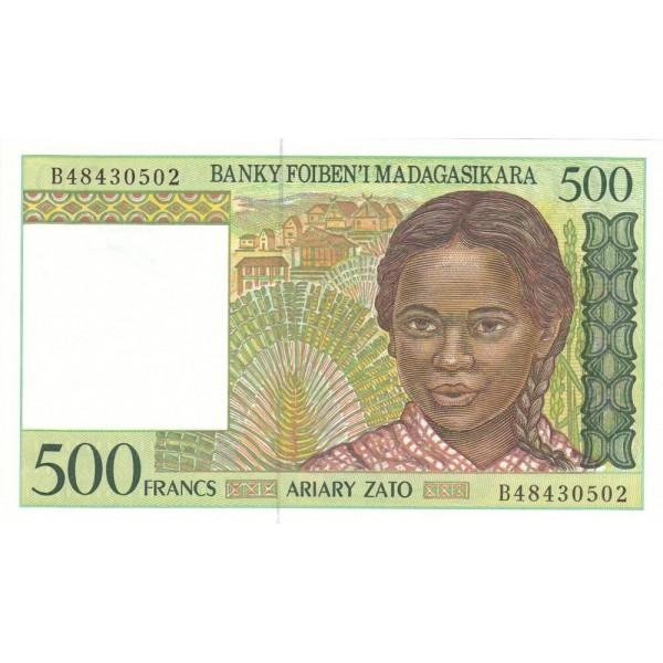 1994 - Madagascar pic 75 billete de 500 Francos =100 Ariary